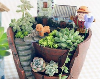 Innovative Broken Pot Garden Resin Planter