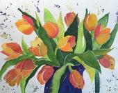 Tulip Art, Tulip Painting...