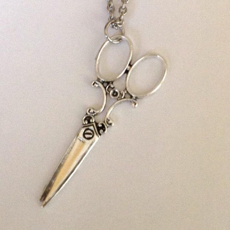 hairstylist scissor necklace hairdresser by simplydeborah