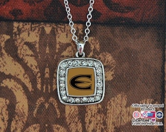 Emporia State Hornets Square Necklace