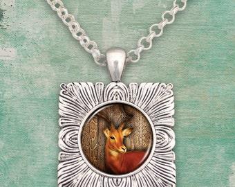 Deer Pendant Necklace - 57842