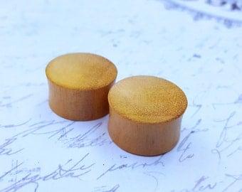 "Organic Concave Wood Plugs (0G - 1 1/8"")"