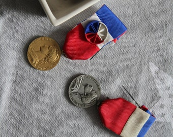 old French labour medals