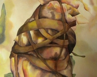 """Bound - 22""""x30"""" Watercolor Painting"""