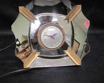 Vintage Mirror Clock by The Session Clock Company