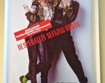 MADONNA * 1-Sheet Poster for Video Release * Desperately Seeking Susan * 1985 * Rebecca De Mornay * 27x41