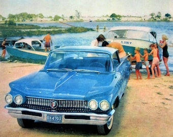 1960 Buick Vintage Advertisement Automotive Wall Art Man Cave Decor Classic Car Print Original Magazine Print Ad Automobile Paper Ephemera