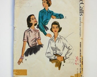 Vintage 1950s McCall Pattern 4166 / Bust 36 / Size 18