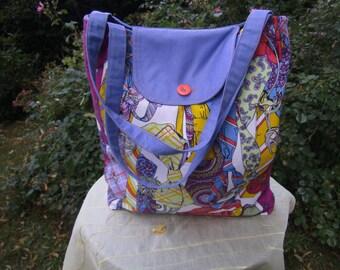 Bag with Tie - Textilbag - Cottonbag - big Bag - handmade Bag