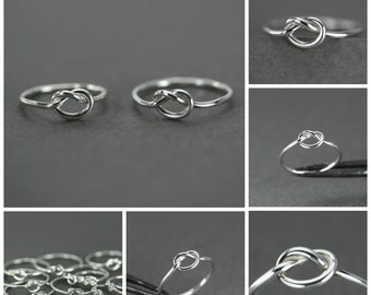 Love knot rings, Set of two best friends rings, Friendship knot rings, knot silver rings, Friendship rings, Love rings, Symbol love rings