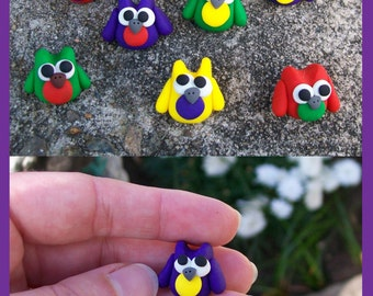 Mini Owls - Crazy Colours!