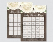 Rustic Baby Shower Bingo ...