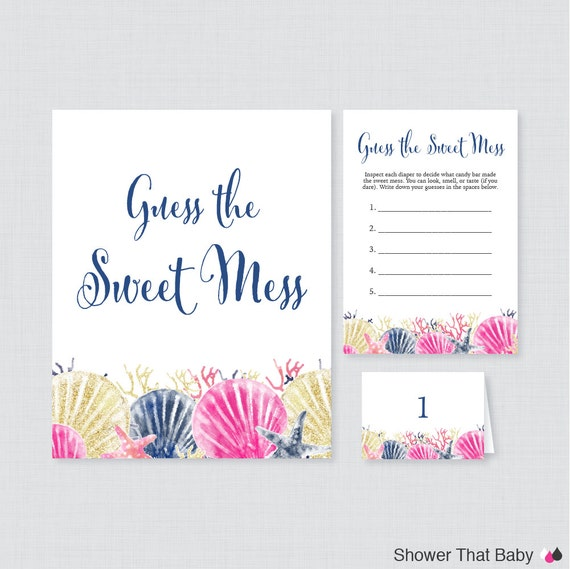 nautical baby shower diaper candy bar game printable guess the sweet