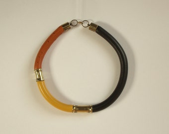 African- necklace - african jewelry- Leather necklace- Masai inspiration necklace - Tribal necklace