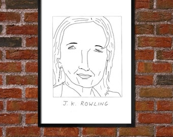 Badly Drawn J.K. Rowling Poster - *** BUY 4, GET A 5th FREE***
