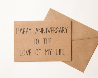 FUNNY ANNIVERSARY CARD - Husband - Boyfriend - Girlfriend - Wife - Natural Kraft Card - Greeting Card - Funny Humor Love - Anniversary