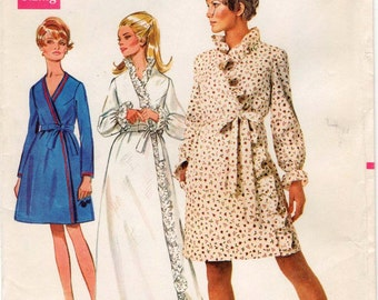 UNCUT sewing pattern Butterick 5035 Misses' Robe, Housecoat Bust 38""