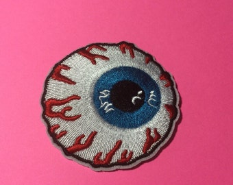 Iron on Sew on Patch:  Blood Shot Eye