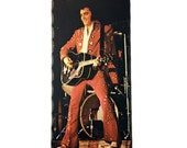 SALE Retro/Vintage 1970s - 70s - Elvis Presley wood fan hanging