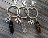 Crystal Keychain, lotus keychain, flower keychain