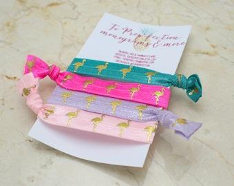 Flamingo - Set of 4 - Hair Ties