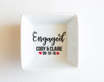 Personalized Ring Dish | Engagement Ring Dish | Bridal shower gift | Ring holder | Engaged | Custom Engagement Ring Holder | Jewelry dish