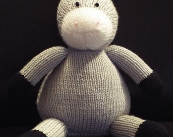 Handmade Hand Knitted Donkey Toy