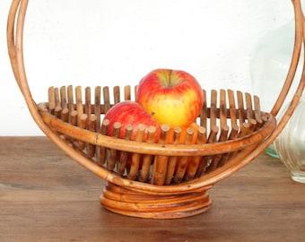 French wicker basket - Fruit basket - Mid century - French kitchen -