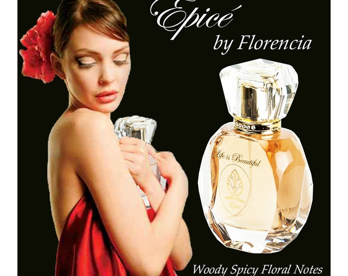 Spicy Woody Floral Épicé by Florencia Perfume for Women; Unique Gift; Florencia Collection Life is Beautiful; Natural Fragrance Oils.