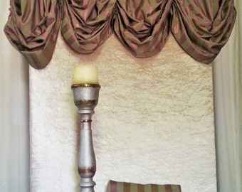 Balloon Valance and Envelope Pillow/Window treatment/Swag/Rod Casing