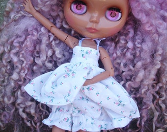 Small summer motifs and small pink bloomer matching dress for Blythe dolls