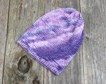 Purple Sparkle Beanies for Adults - Knit Skull Cap - Winter Hat - Tuque - Men Women