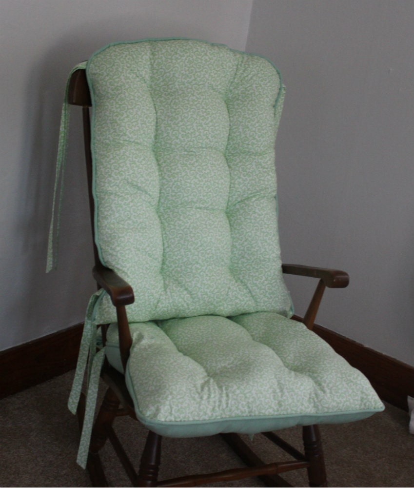 Daisy Mae Mint Rocking Chair Cushions Rocking Chair Pads