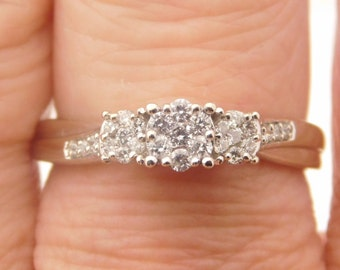 0.25 Carat T.W. Ladies Round Cut Diamond Engagement Ring 10K