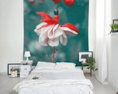 Fuchsia Flower Tapestry Fabric, Flower Tapestry, Large Wall Decor, Floral Tapestries, Flower Wall Art, Bohemian Tapestries