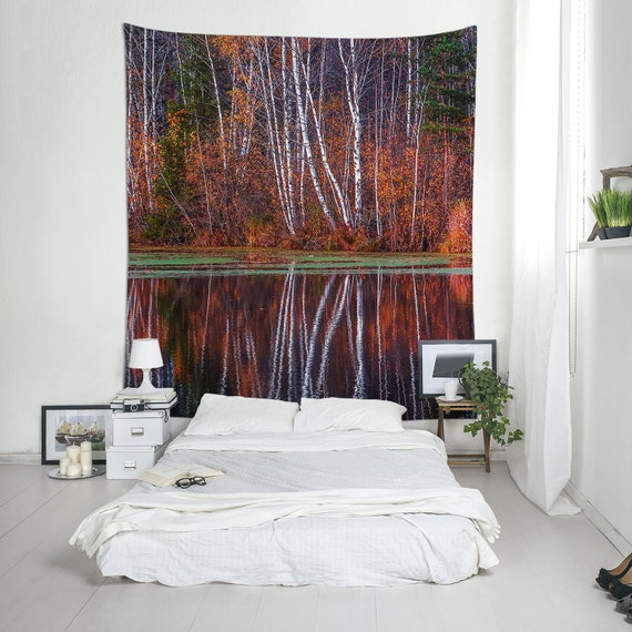 Nature Photography, Large Tapestry, Forest Wall Art, Tree Tapestry, Bohemian Tapestry, Forest Print