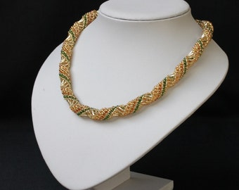 Gold Russian Spiral Necklace