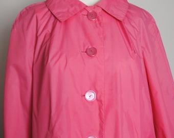 80s Pink Raincoat - 1980s Alligator Brand Lightweight Rain Jacket