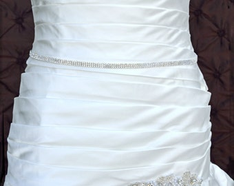 Wedding Belt, Bridal Belt, Sash Belt, Crystal Rhinestone Belt, Wedding Dress Sash, Style 2535