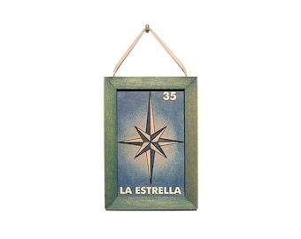 La Estrella Picture, Star Magnet, Loteria, Cubicle Decor, Housewarming Gift, Thank You Gift, Small Gift, Gift For Him, Gift For Her, Magnet