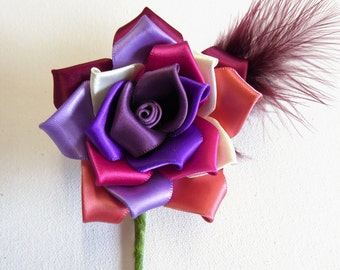 Handcrafted Lesbian Rose Buttonhole