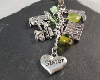 Create your own personalised bag charm - sister gift - best friend gift - Christmas gift - birthday gift - anniversary gift - leaving gift