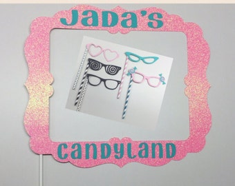 Candy land photo booth props - Candy Land theme