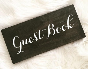 Rustic Wedding Wood Sign. Guest Book Sign. Pick your stain color.