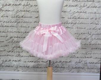 Baby Girl Tutu Pettiskirt in Baby Pink. Pink Pettiskirt. Baby Easter Pettiskirt.  Ready to Ship.