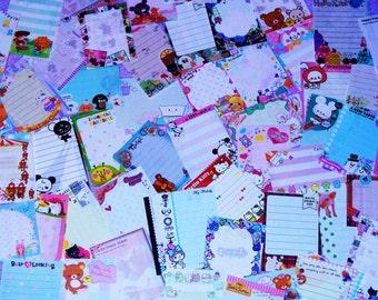 15 Kawaii Mini / Small Memo Sheets Sampler from Japan / Japanese Stationery - Buyer's Choice Option!