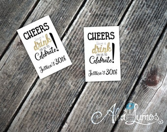 Free Drink Ticket - Personalized Drink - Party Printable - Birthday Party Decoration - Printable Drink Tickets - DIY Drink Tickets