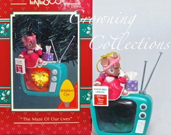 Enesco The Maze of Our Lives Ornament Mouse TV Soap Opera Vintage Treasury of Christmas Wife Brighten Up
