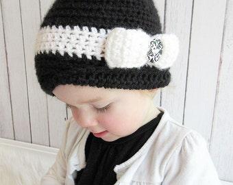 1920s style Crochet Cloche, Crochet Cloche, Infant Crochet Hat, Toddler Girls Crochet Cloche, Girls Crochet Hat