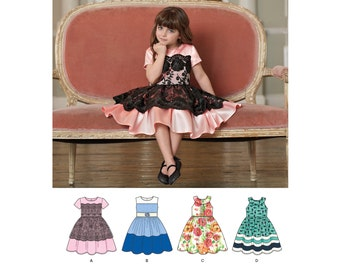 Simplicity 8182 Girls Special Occasion Dresses. Size 3-8. Pattern is new and uncut.